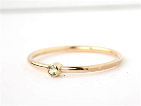 tiny yellow gold filled birthstone ring 14k gold filled