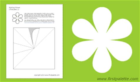 free fold it flower card template folding flowers printable templates coloring pages