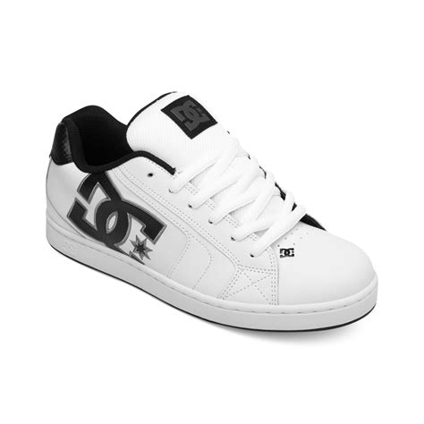 white dc sneakers dc shoes net sneakers in white for battleship white