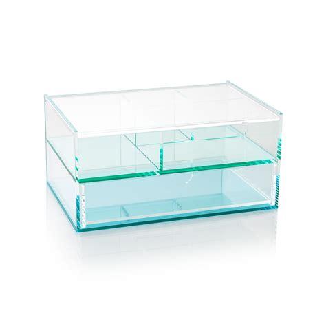 Acrylic Drawer Storage by Blue Acrylic Storage Box With Drawers Oliver Bonas