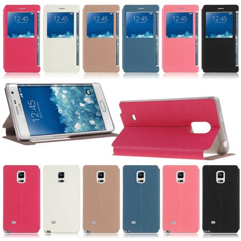 Fonel Fashionable Simple Wallet Note Edge Sm 915 Original 100 for samsung galaxy note edge sm n915 window view leather stand flip cover ebay