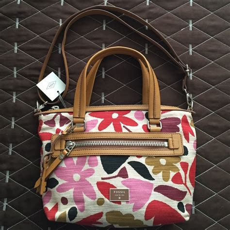 Tas Fossil Dawson Satchel Floral 1 59 fossil handbags fossil flash sale nwt fossil dawson satchel from suggested