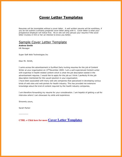cover letter sle template word cover letter for cv in word format 28 images general