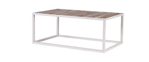 table basse bois et m 233 tal blanc 100 x 60 rochelle miliboo