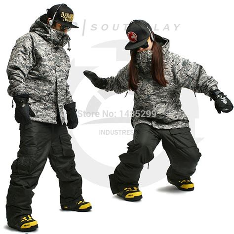 army patterned ski jacket new edition quot south play quot winter waterproof ski snowboard