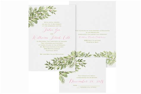 winter wedding invitation templates create easy winter wedding invitations free ideas
