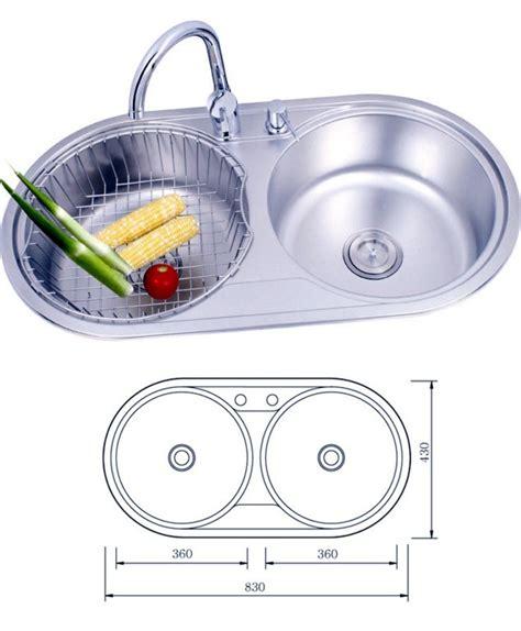 round kitchen sink circular stainless steel sink befon for