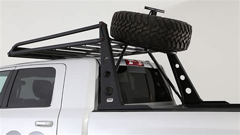 truck bed spare tire mount wilco offroad adv rack system