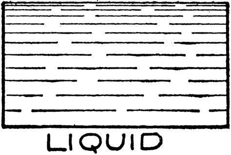 Mechanical Drawing Cross Hatching Of Liquid Clipart Etc