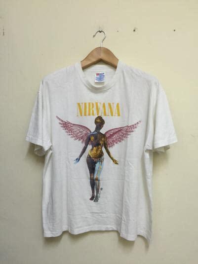 Tshirt Nirvana In Utero Diskon 90s nirvana in utero tshirt