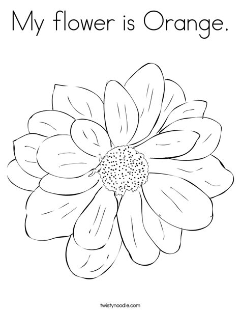 orange blossom page coloring pages