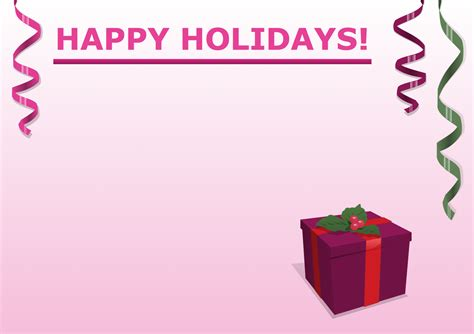 happy holidays from company card template solution clipart conceptdraw