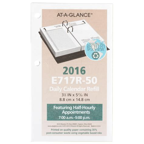 At A Glance Daily Desk Calendar Refill by At A Glance Daily Desk Calendar 2016 Refill