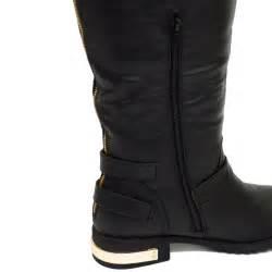 From Designer Shoes To Designer Zip Codes 2 by Flat Black Ex Designer Zip Biker Knee Wide Fit
