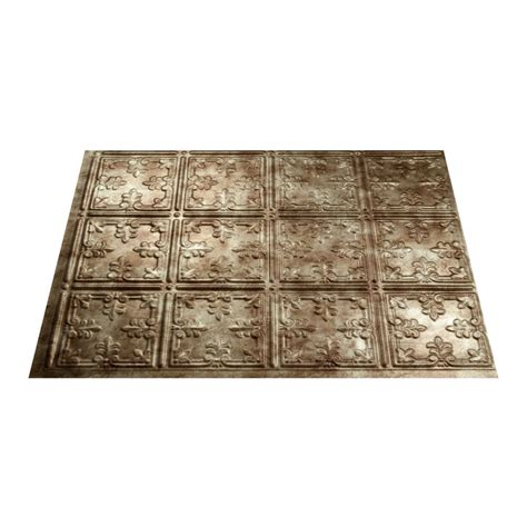 thermoplastic panels kitchen backsplash shop fasade 18 5 in x 24 5 in bermuda bronze thermoplastic multipurpose backsplash at lowes com