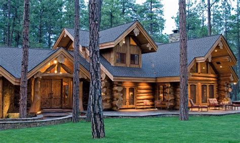 Log Cabin House by The Log Home Lifestyle Homestead Timbers