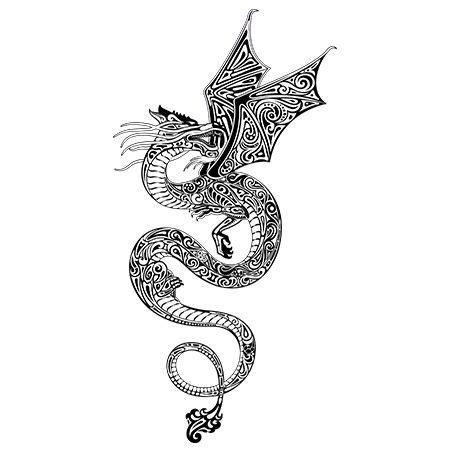 flying dragon tattoo designs designs for ideas