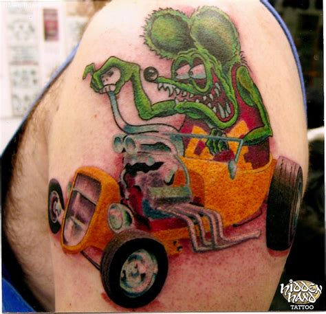tattoo hot rod art rat fink hidden hand tattoo seattle wa