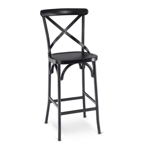 Black Cross Back Bar Stools by Black Metal Cross Back Commercial Bar Stool With Metal Seat