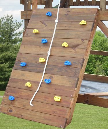 swing set with rock climbing wall add on rock wall kit for swing sets