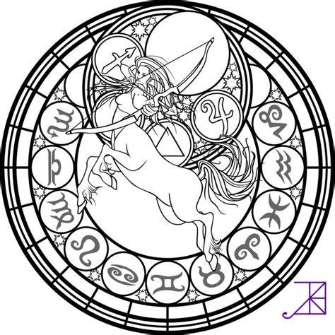 Stained Glass Coloring Pages Astrology Free Printable Coloring Pages Kids Colouring Pages