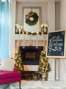 Simple and elegant christmas mantel decorations by angela flournoy of