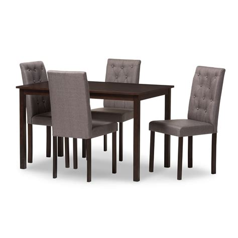 Set By An baxton studio gardner modern and contemporary 5 brown finished grey fabric