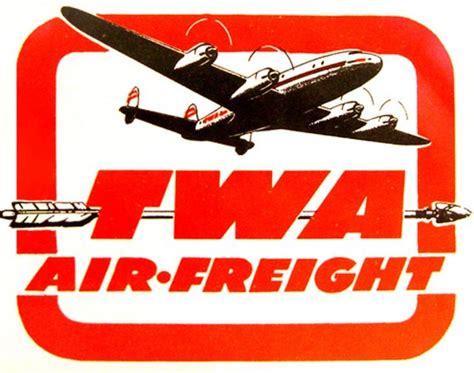 twa freight vintage airline logo s