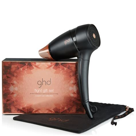 Ghd Hair Dryer Attachments ghd flight travel hairdryer hair dryer copper luxe gift set