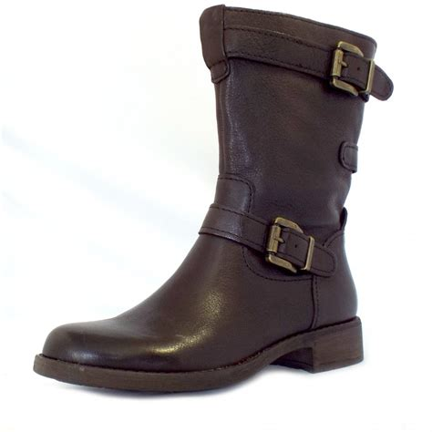 gabor heaven mid calf casual boots in brown mozimo