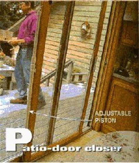 Patio Door Closer Glide Along Automatic Sliding Patio Door Closer