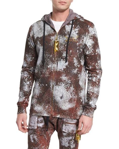Hoodie Zipper Anak Robin 313 Clothing robin s jean paint splattered zip up hoodie in brown for medium save 51 lyst