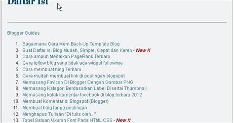 jelaskan tahap tahap membuat daftar isi cara mudah membuat daftar isi diblog makassar city