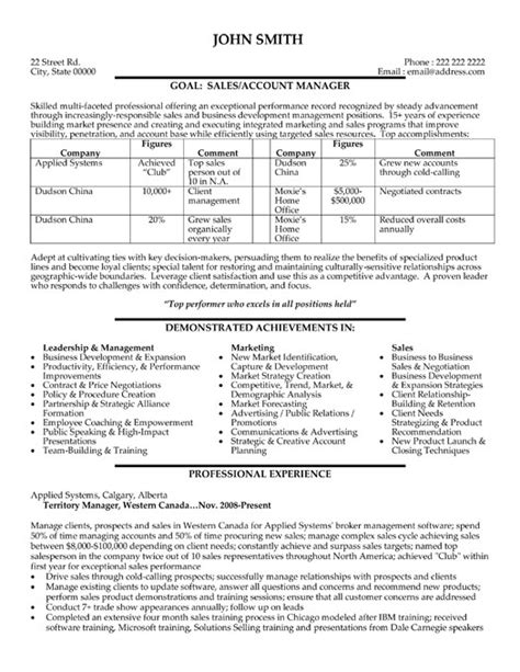 resume format for sales and marketing 28 images sales