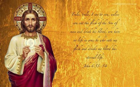 wallpaper catholic jesus and the eucharist from everythingcatholic