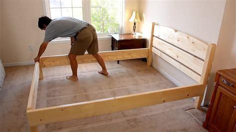 hacer camas diy como hacer una cama de dos plazas de madera pino f 225 cil