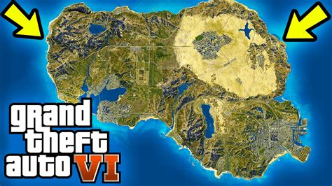gta 6 world map gta 6 world map concept usa map location new regions