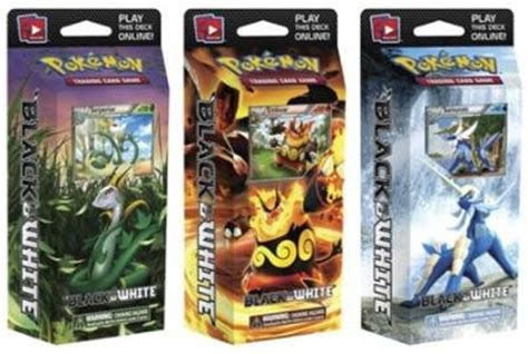 themes of pokemon games pokemon card game black white set of 3 theme decks blue