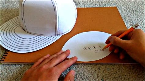 How To Make A Baseball Cap Out Of Paper - tutorial on how to make a flat brimmed paper hat new era