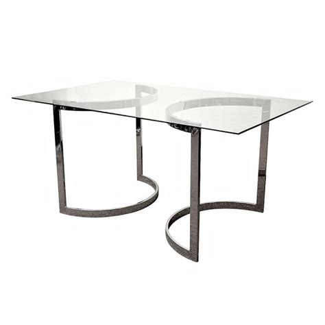 milo baughman table milo baughman chrome and glass dining table at 1stdibs