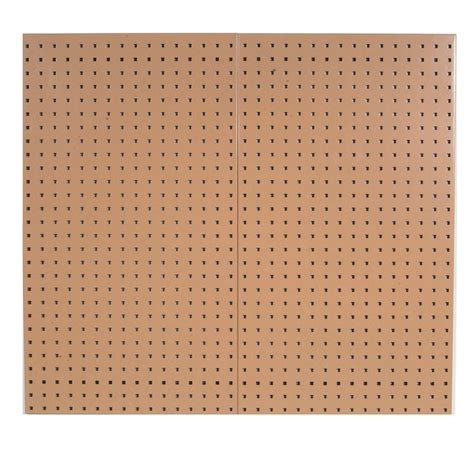 peg board triton products 3 8 in tan pegboard wall organizer