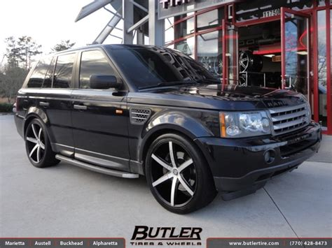 land rover range rover sport with 22in lexani r six wheels