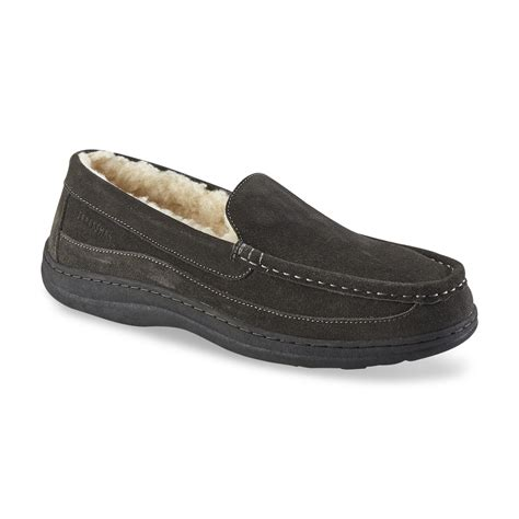 sears mens house slippers craftsman men s suede venetian slipper grey
