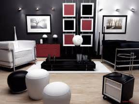 Red And Black Home Decor by Black Red And White Livingroom Interior Designs For Your