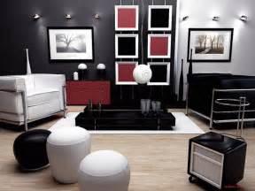 Black white red living room black red and white livingroom interior