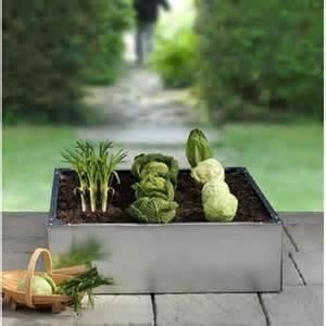 potager carr 233 en acier galvanis 233 plantes et jardins