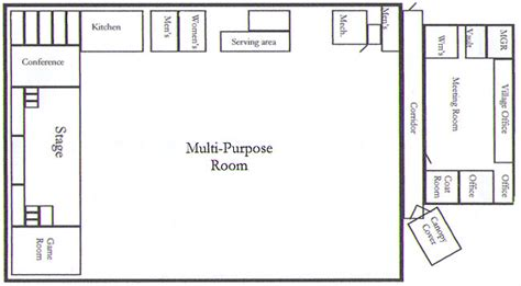 multi purpose hall floor plan hillman community center facility for rent in northeast