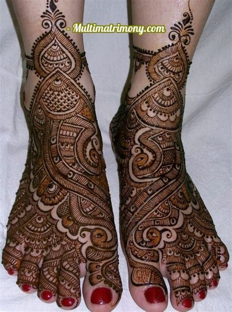 Bridal Mehandi Designs for Foot   Multimatrimony.com