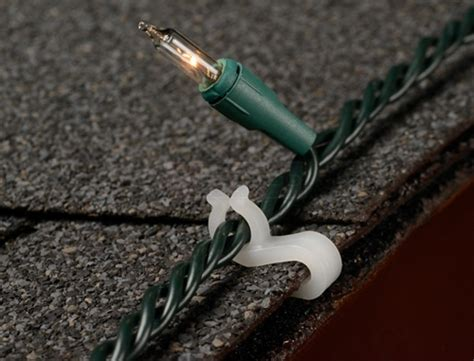 how to hang lights on shingles 14 005 mighty light 100 pc swisco