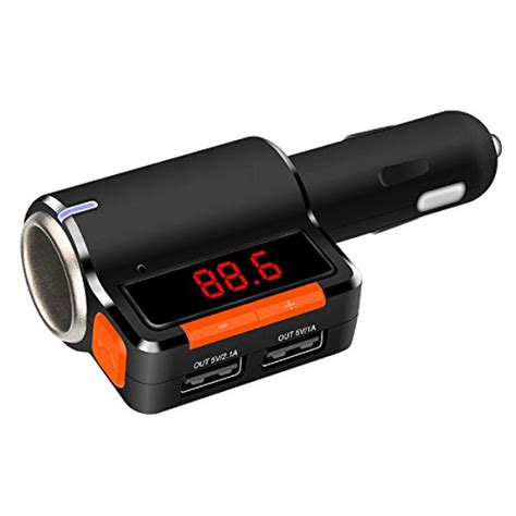 Bluetooth Audio Receiver Fm Transmitter With Usb Car Charger ricorich in car bluetooth fm transmitter car radio bluetooth adapter cell phone bluetooth car